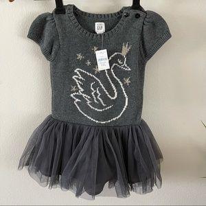 Gap   Swan Sweater Dress w/ Tulle Tutu Skirt